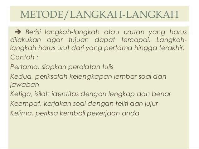 Teks procedure Bahasa Indonesia
