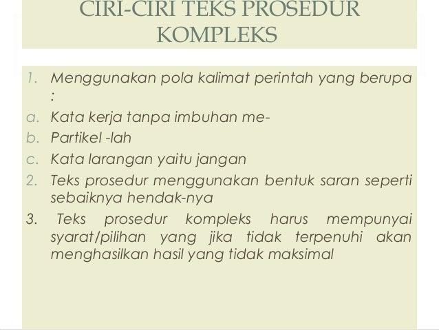 Image Result For Contoh Teks Prosedur Singkata