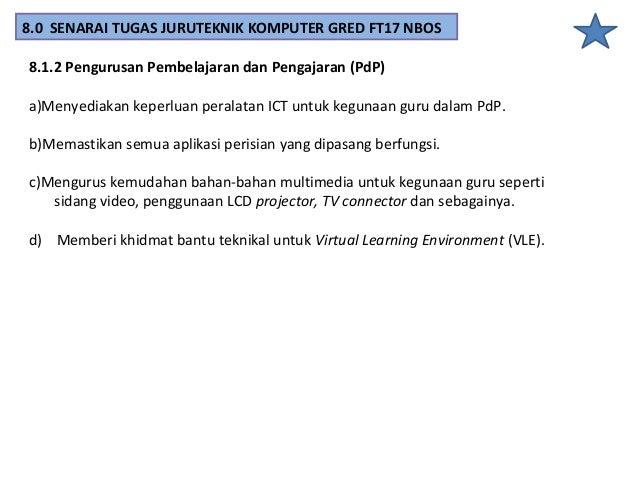 8.1.3 Pengurusan Teknikal dan Penyelenggaraan Peralatan ICT Sekolah a)Mengurus dan menyelia rangkaian Local Area Network (...