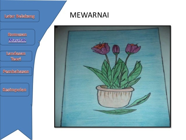 Menggambar Bunga Dengan Teknik Kering Pensil Warna