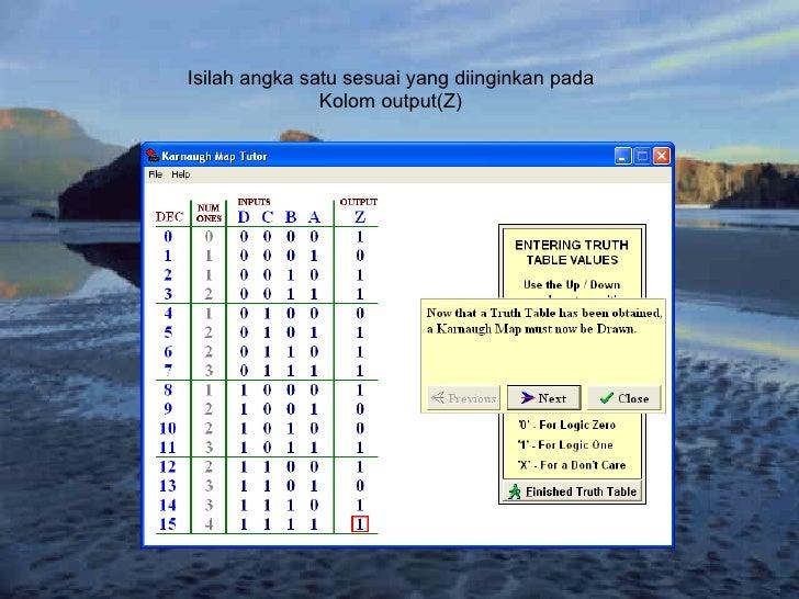 Isilah angka satu sesuai yang diinginkan pada Kolom output(Z)
