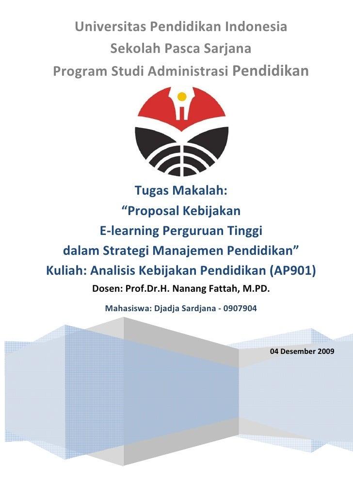 Universitas Pendidikan Indonesia          Sekolah Pasca Sarjana  Program Studi Administrasi Pendidikan                    ...