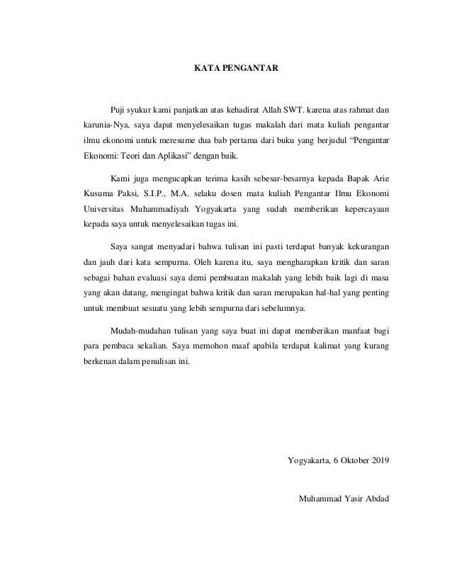 Contoh Resume Buku Tugas 1 Tugas Pengantar Ilmu Ekonomi