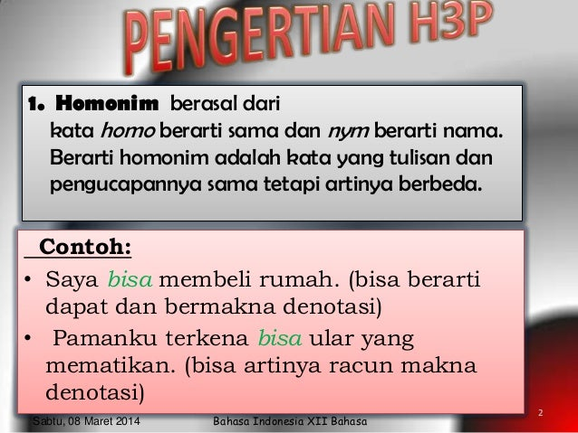 Bahasa Indonesia Xii Bahasa Homonim Homograf