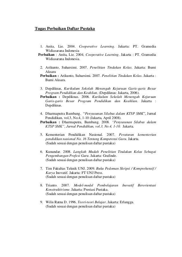 Contoh Daftar Pustaka Dari Buku Bahasa Indonesia