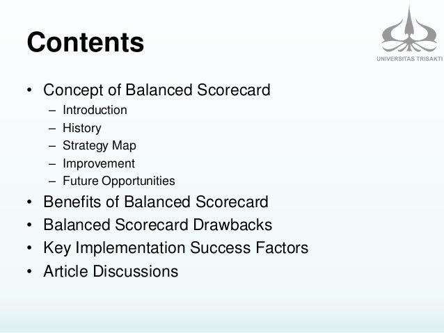 Balanced Scorecard: A Review of Implementation and Future Opportuniti…