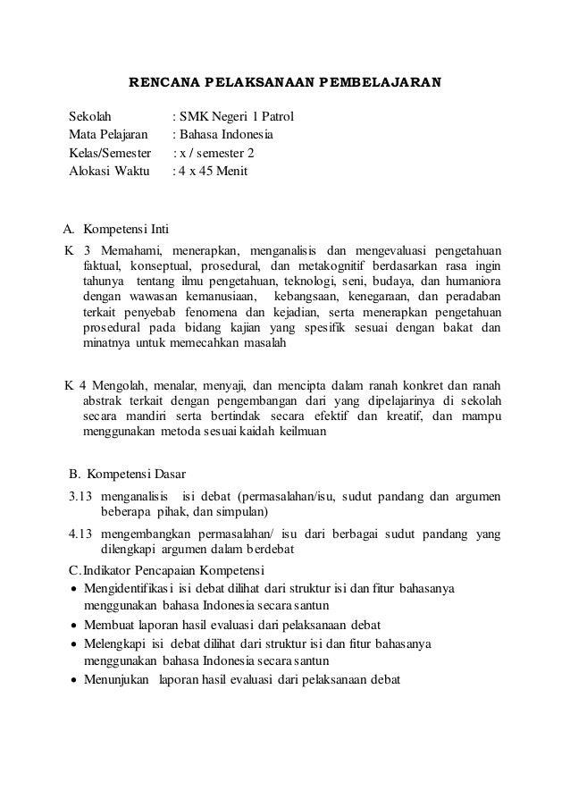 Contoh Rpp Bahasa Indonesia K13 3