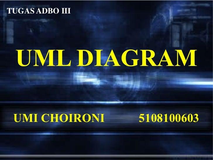 UML DIAGRAM UMI CHOIRONI 5108100603 TUGAS ADBO III