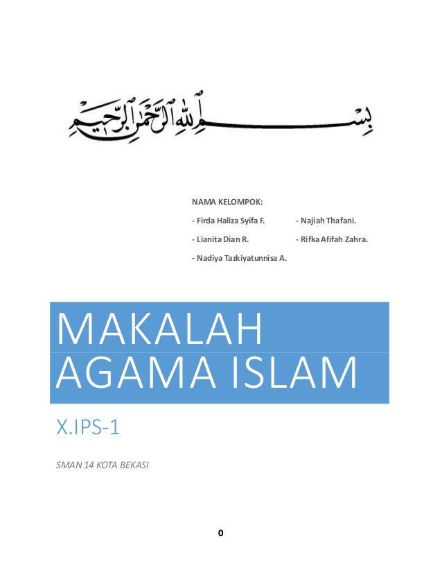 Makalah Agama Islam Kelas X Semester Genap