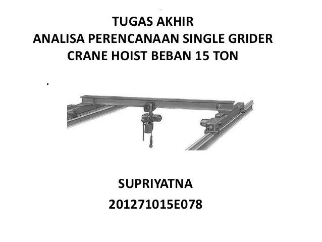 Perhitungan Crane Hoist By Supriyatna Hp 081288607271
