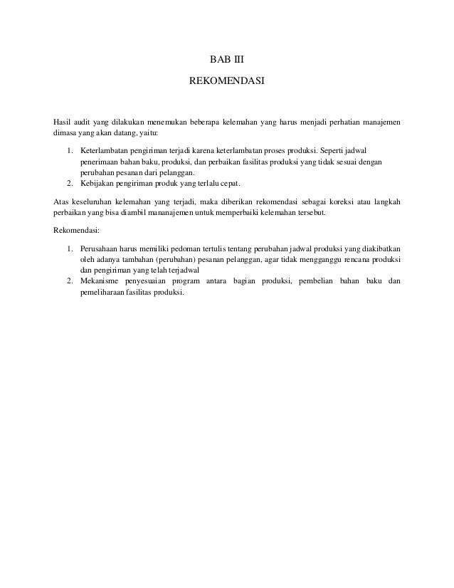 Tugas Akhir Laporan Audit Audit Kinerja Manajemen