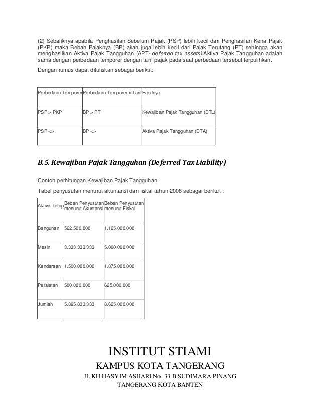 Tugas Akuntansi Perpajakan Pak Suryanih Psak No 46 Dian Fatur Rahman