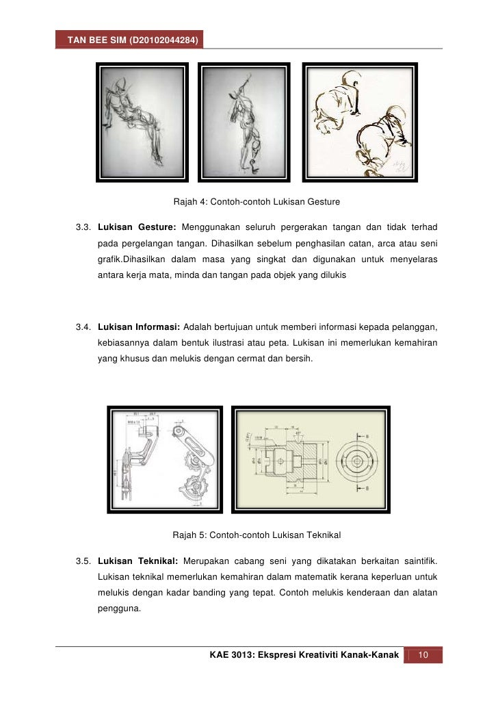 TAN BEE SIM (D20102044284)                       Rajah 4: Contoh-contoh Lukisan Gesture 3.3. Lukisan Gesture: Menggunakan ...