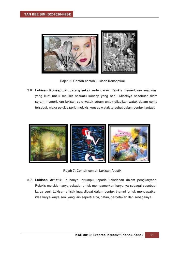 TAN BEE SIM (D20102044284)                      Rajah 6: Contoh-contoh Lukisan Konseptual 3.6. Lukisan Konseptual: Jarang ...