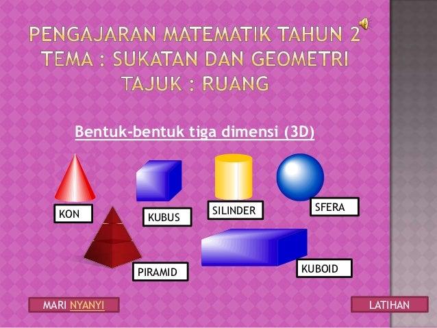 Bentuk-bentuk 3 Dimensi Tahun 2