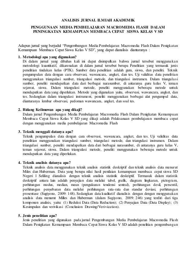 Contoh Analisis Jurnal
