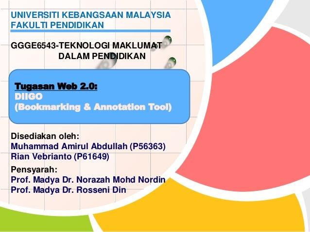 Disediakan oleh: Muhammad Amirul Abdullah (P56363) Rian Vebrianto (P61649) Pensyarah: Prof. Madya Dr. Norazah Mohd Nordin ...