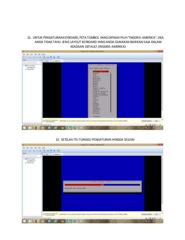 Langkah - langkah menginstallasi linux debian