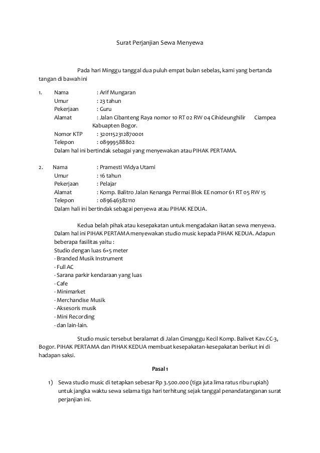 Tugas Bindo Surat Perjanjian