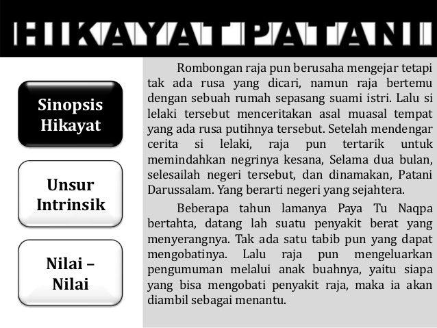 Tugas Bahasa Indonesia Hikayat Patani Kelompok 6