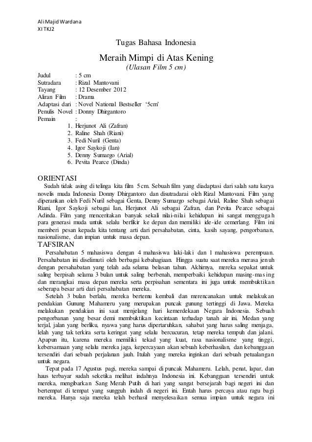 Tugas Bahasa Indonesia Struktur Teks Ulasan