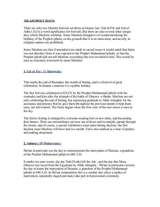 Tugas Bahasa Inggris Artikel Hari Hari Besar Islam