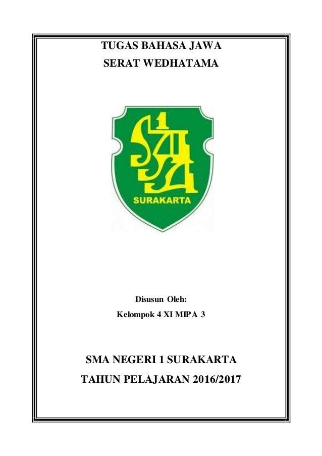 Bahasa Jawa Serat Wedhatama Pada 4 S D 6