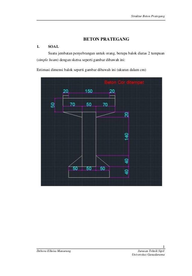 Tugas Akhir Struktur Beton Prategang