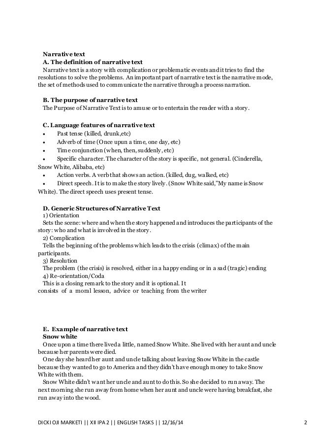 definition of descriptive text in english