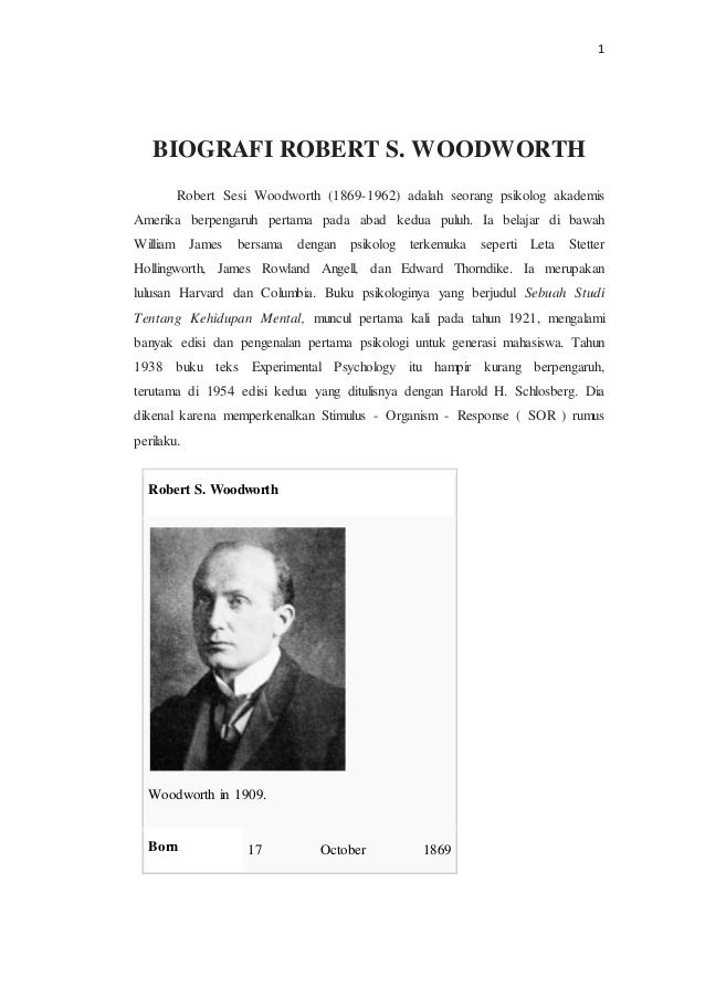 Tugas biografi robert sesi woodworth
