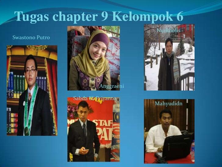 Tugas chapter 9 Kelompok 6                                       NurkholisSwastono Putro                           Anggrae...