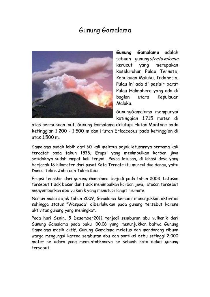 Gunung Gamalama                                          Gunung Gamalama adalah                                          s...