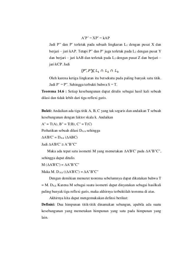 """A'P' = XP' = kAP Jadi P"""" dan P' terletak pada sebuah lingkaran L1 dengan pusat X dan berjari – jari kAP. Tetapi P"""" dan P' ..."""