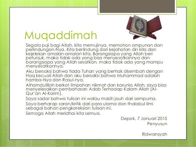 Adab terhadap Al-Qur'an Slide 2