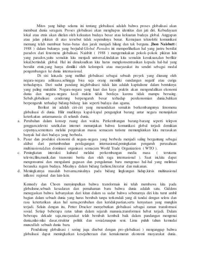 Makalah Perekonomian Indonesia Dalam Era Globalisasi