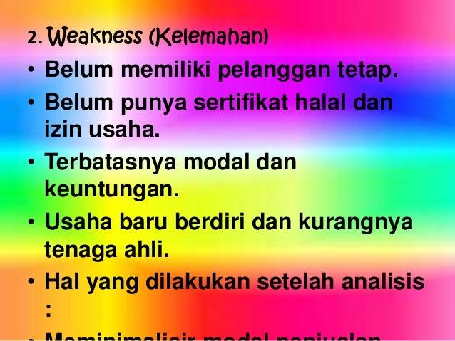 Contoh Tugas Prakarya Analisis Swot Strengths Weakness Opportuniti