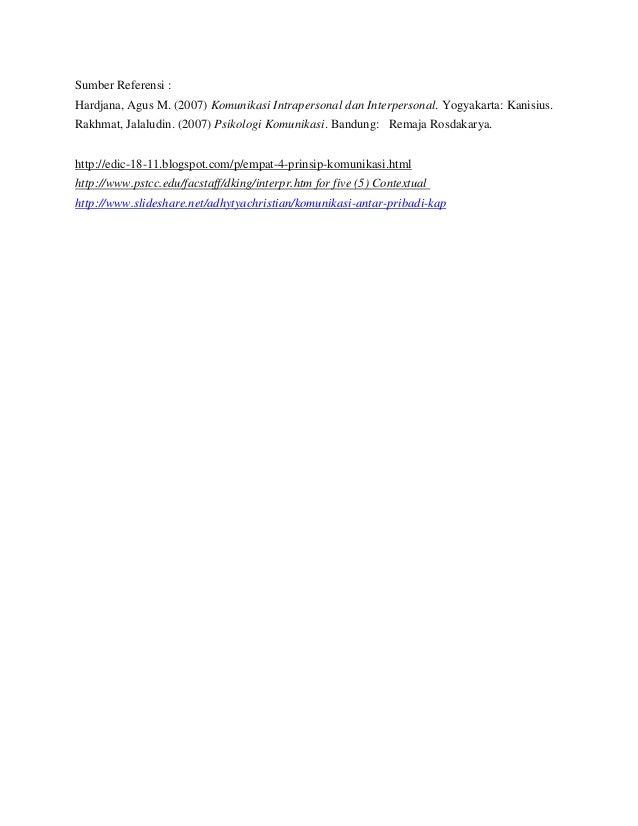 komunikasi interpersonal dan intrapersonal pdf