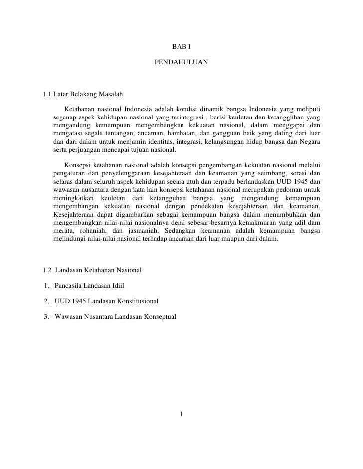 Tugas Makalah Ketahanan Nasional Harits