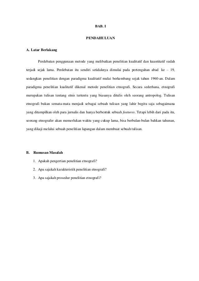 Tugas Makalah Metodologi Penelitian