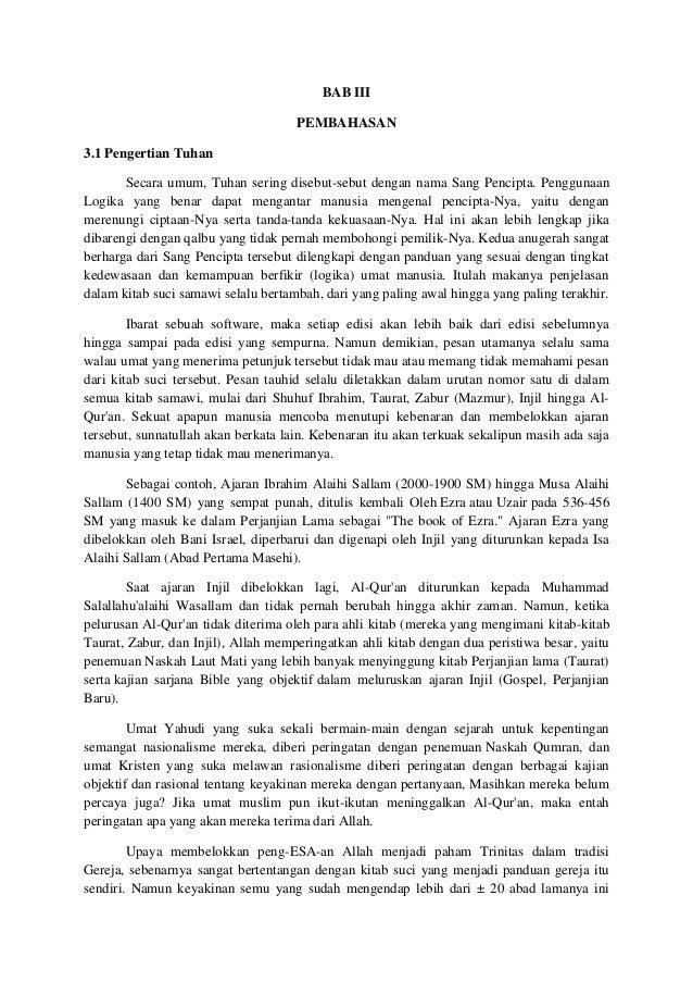 Contoh Makalah Agama Islam Tentang Kitab Injil Contoh Makalah
