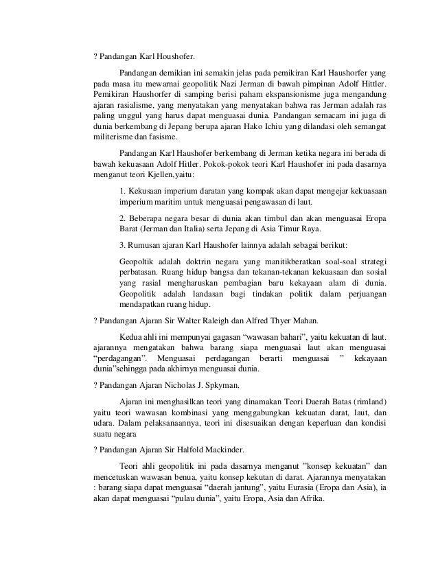 Essay Geopolitik Dengan Sumpah Pemuda Tugas Makalah Wawasan Nusantara