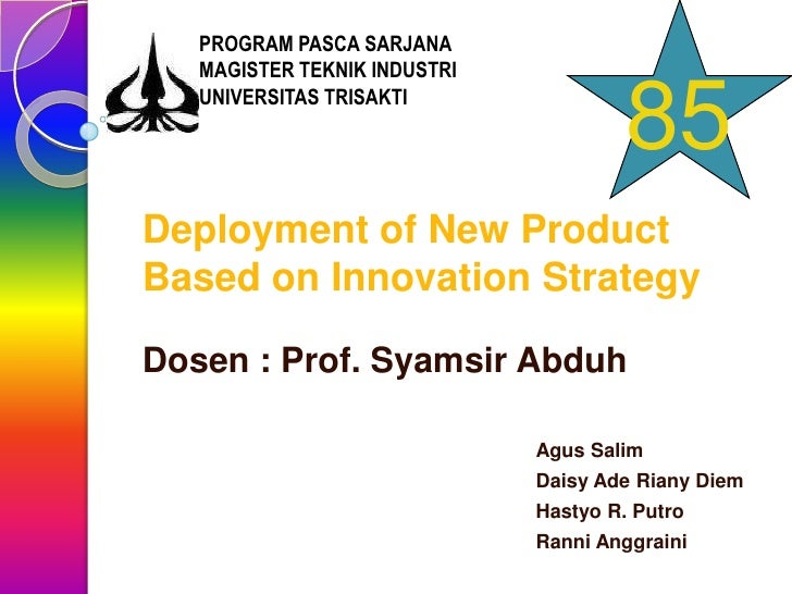 PROGRAM PASCA SARJANA    MAGISTER TEKNIK INDUSTRI    UNIVERSITAS TRISAKTI                                        85 Deploy...