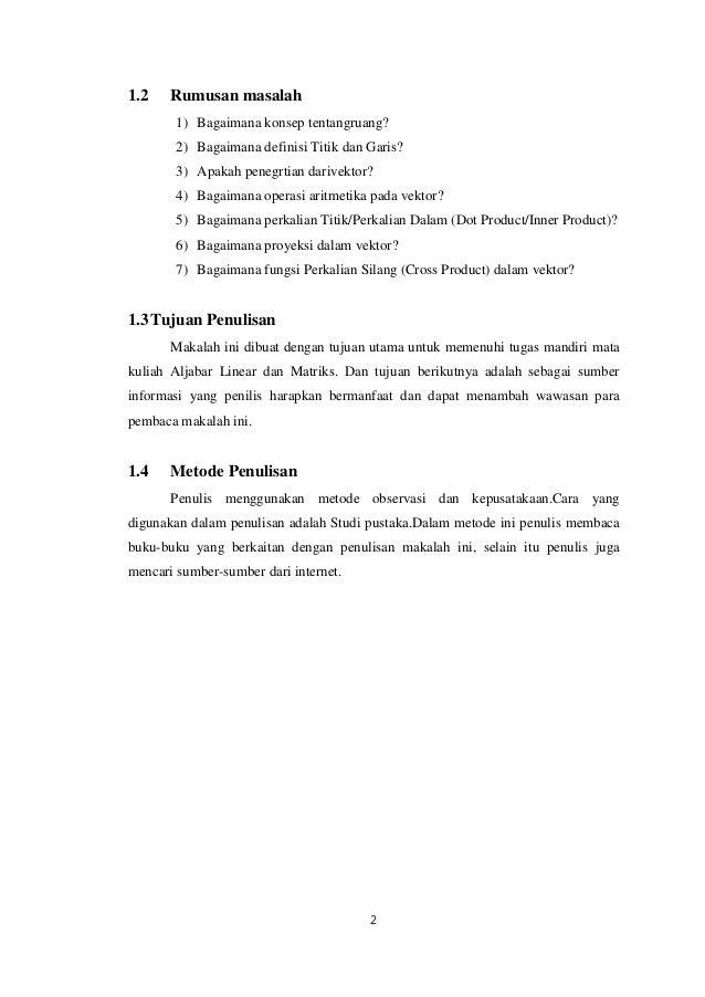 Contoh Makalah Vektor Matematika Peminatan Kumpulan Contoh Makalah Doc Lengkap
