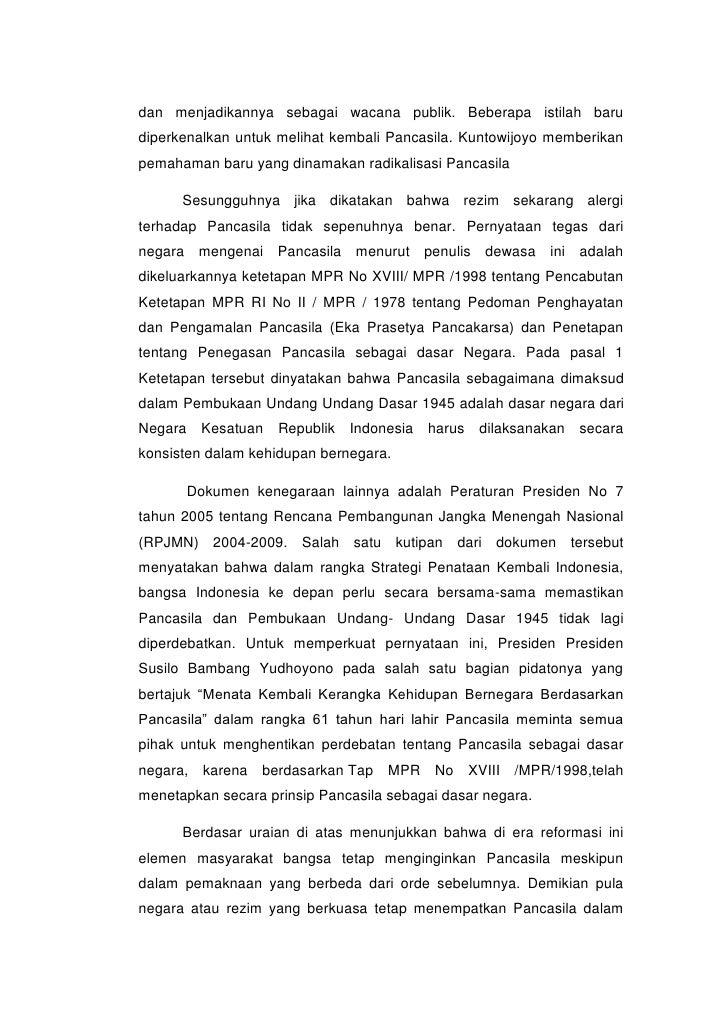 Implementasi Pancasila di Era setelah Reformasi