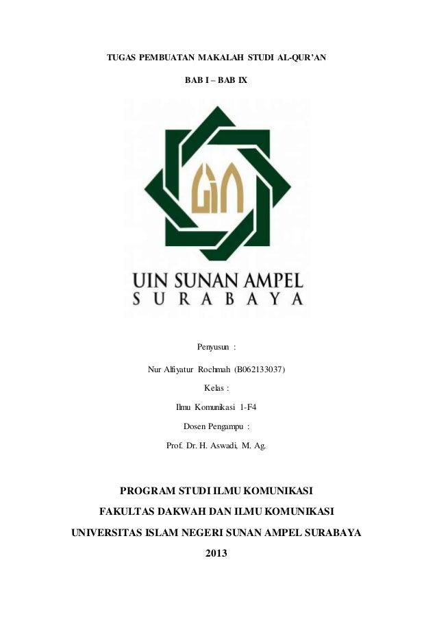 Tugas Pembuatan Makalah Studi Al Qur An
