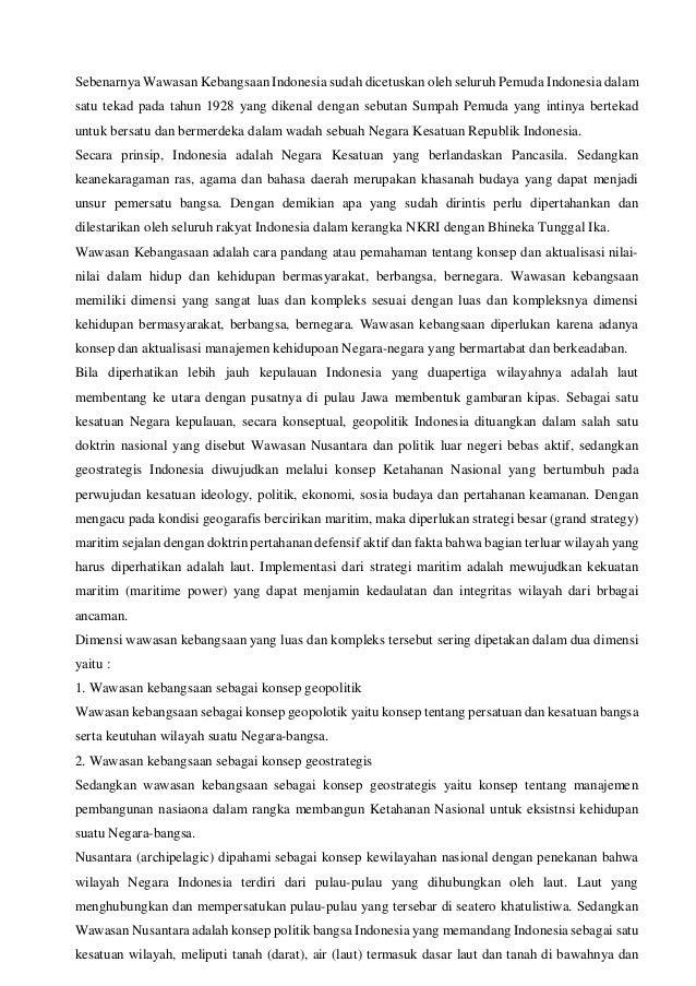 Essay Geopolitik Dengan Sumpah Pemuda Tugas Pendidikan Kewarganegaraan 2