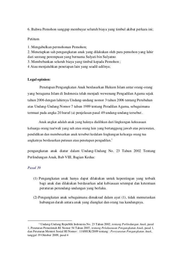 43++ Contoh surat permohonan adopsi anak di pengadilan agama terbaru terbaru