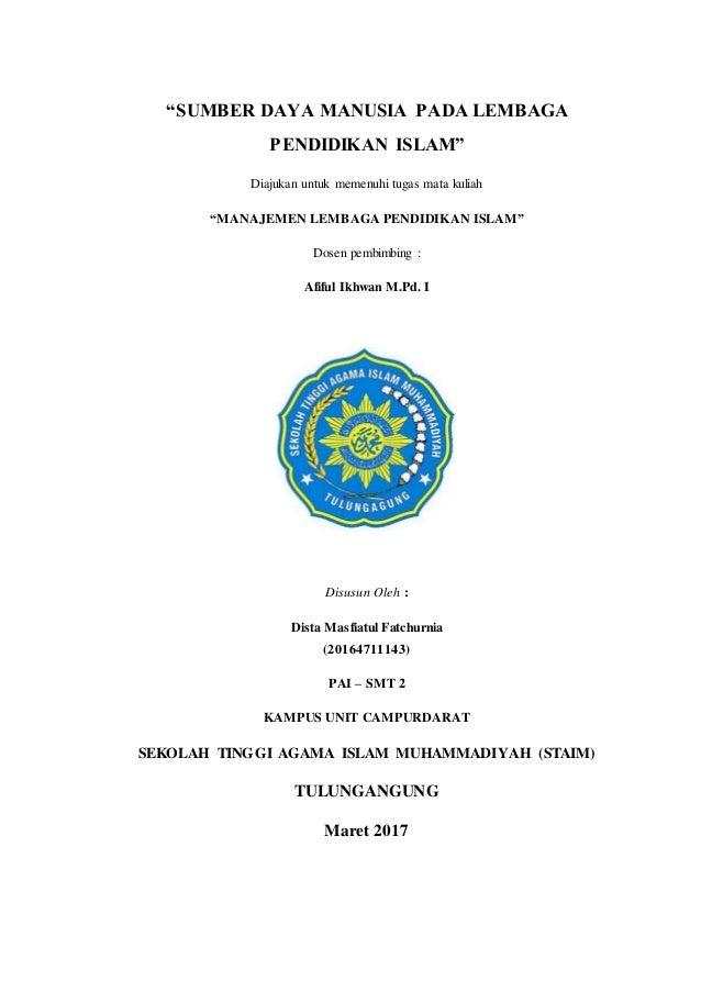 Sumber Daya Manusia Pada Lembaga Pendidikan Islam