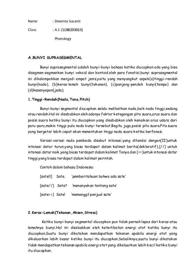 Tugas Phonology By Dewinta Susanti