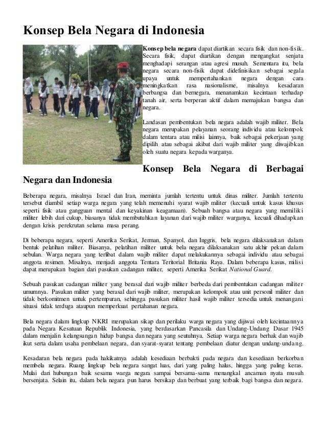 Konsep Bela Negara Di Indonesia